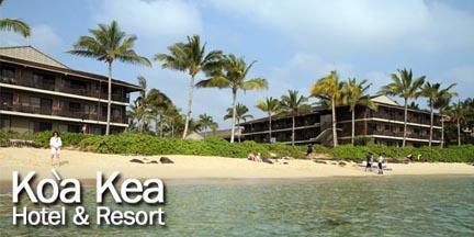 view of koa kea resort from the water